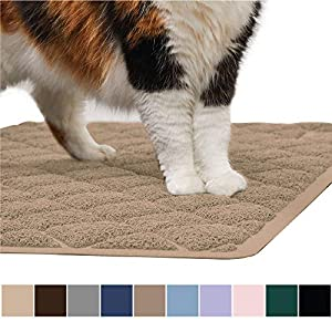 Gorilla Grip Original Premium Durable Cat Litter Mat, XL Jumbo, No Phthalate, Water Resistant, Traps Litter from Box and Cats, Scatter Control, Mats Soft on Kitty Paws, Easy Clean Mats 25