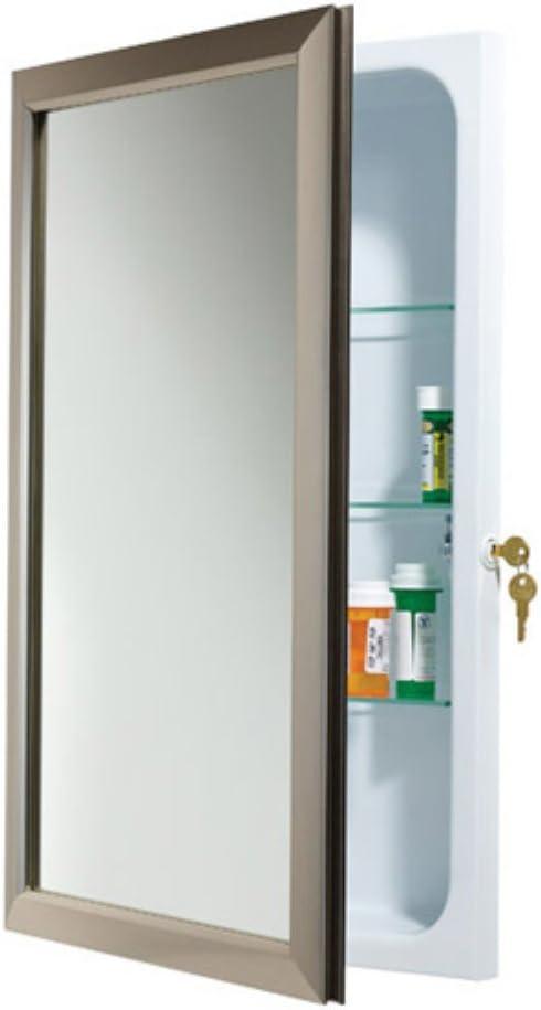 Jensen medicina Gabinete bloqueo 15,75 W x 25.5h en. Empotrada botiquín 625 N244: Amazon.es: Hogar