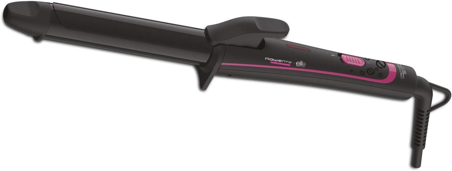 Rowenta CF3212F0 - Tenacillas para rizar el pelo de 25 mm de diámetro con recubrimiento de Keratina y Turmalina de hasta 200 º y función iónica