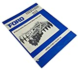 Ford Series 212 Adjustable Mounted Disk Harrow Operators Owners Manual
