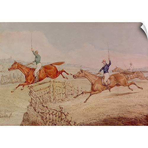 CANVAS ON DEMAND Henry (1785-1851) Alken Wall Peel Wall Art Print Entitled Jumping a Fence 24