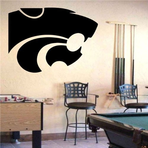 VSDecals NCAA Kansas State Wildcats Logo Wall Art Sticker Decal (S323) by VSDecals