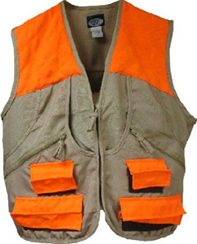 World Famous Sports Upland Game Vest, Tan/Orange, 2XL