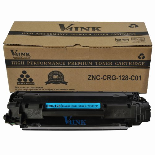 V4INK ® New Compatible Canon 128 (3500B001AA)/HP CE278A 78A Toner Cartridge-Black, Office Central