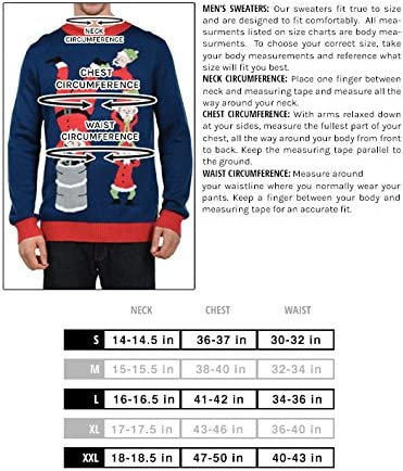 Tipsy Elves Men's Beer Bong Angel Christmas Sweater Funny Ugly Christmas Sweater