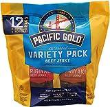 Pacific Gold Beef Jerky Original & Teriyaki, 12