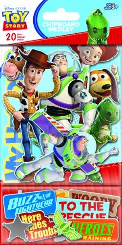Sandylion Toy Story Chipboard Medley Sticker with Glitter