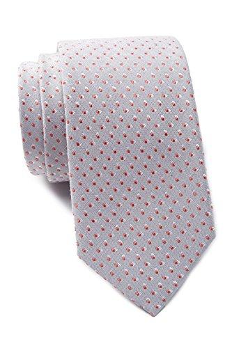 Ben Sherman Men's Dot Cotton/Silk Blend Tie (Grey)