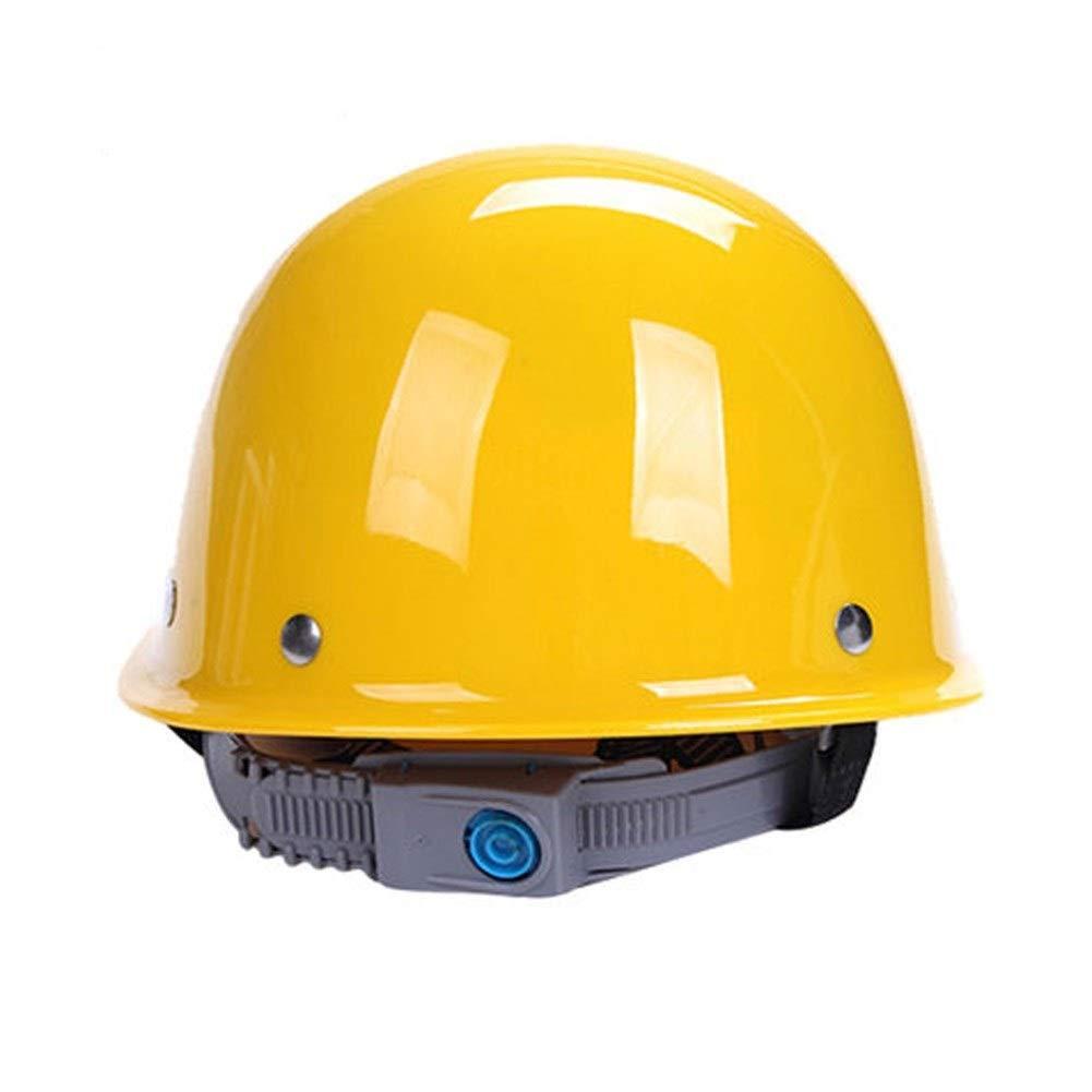 FEI JI Hard Hats - Head Protection,''keep Cool'' Ventilation Helmet, Fully Adjustable Site Leadership Construction Ventilation Building Helmet Engineering Labor Insurance ABS Hard Helmet Protective Hel