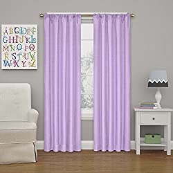 Eclipse 10707042X063LPR Kendall 42-Inch by 63-Inch Thermaback Room Darkening Single Panel, Light Purple