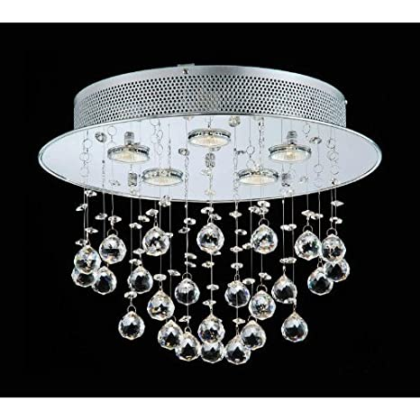 Floating bubble chrome and white 5 light crystal chandelier floating bubble chrome and white 5 light crystal chandelier aloadofball Choice Image