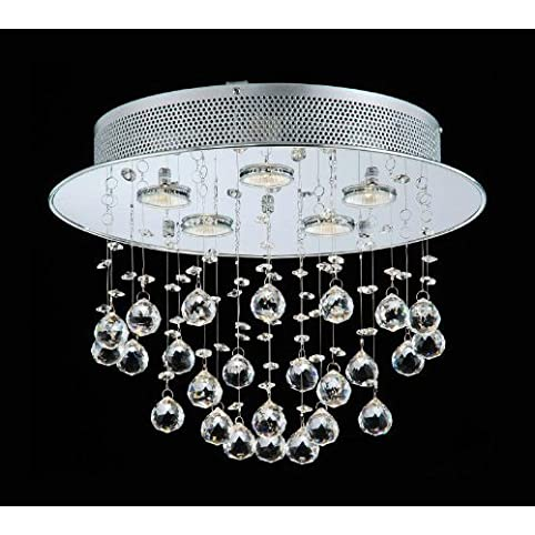 Floating bubble chrome and white 5 light crystal chandelier floating bubble chrome and white 5 light crystal chandelier aloadofball Images