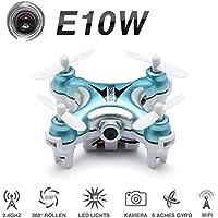 FPV Mini Quadcopter With Camera , EACHINE E10W Mini Wifi FPV Drone Live Video Selfie Pocket Drone RTF