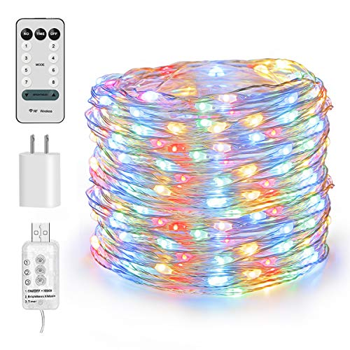 HSicily 100 LED Fairy Lights 33FT Starry String Lights Waterproof Warm White on Copper Wire Firefly Lights for Indoor Outdoor Christmas Decorative Patio Wedding Garden