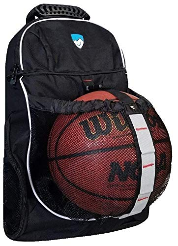 Hard Basketball - Hard Work Sports Basketball Backpack, Soccer Bag with Ball Compartment Unisex One Size