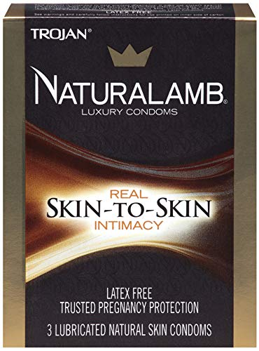 Trojan Naturalamb Natural Skin Lubricated Luxury Condoms - 3 ct, Pack of 5 by TROJAN