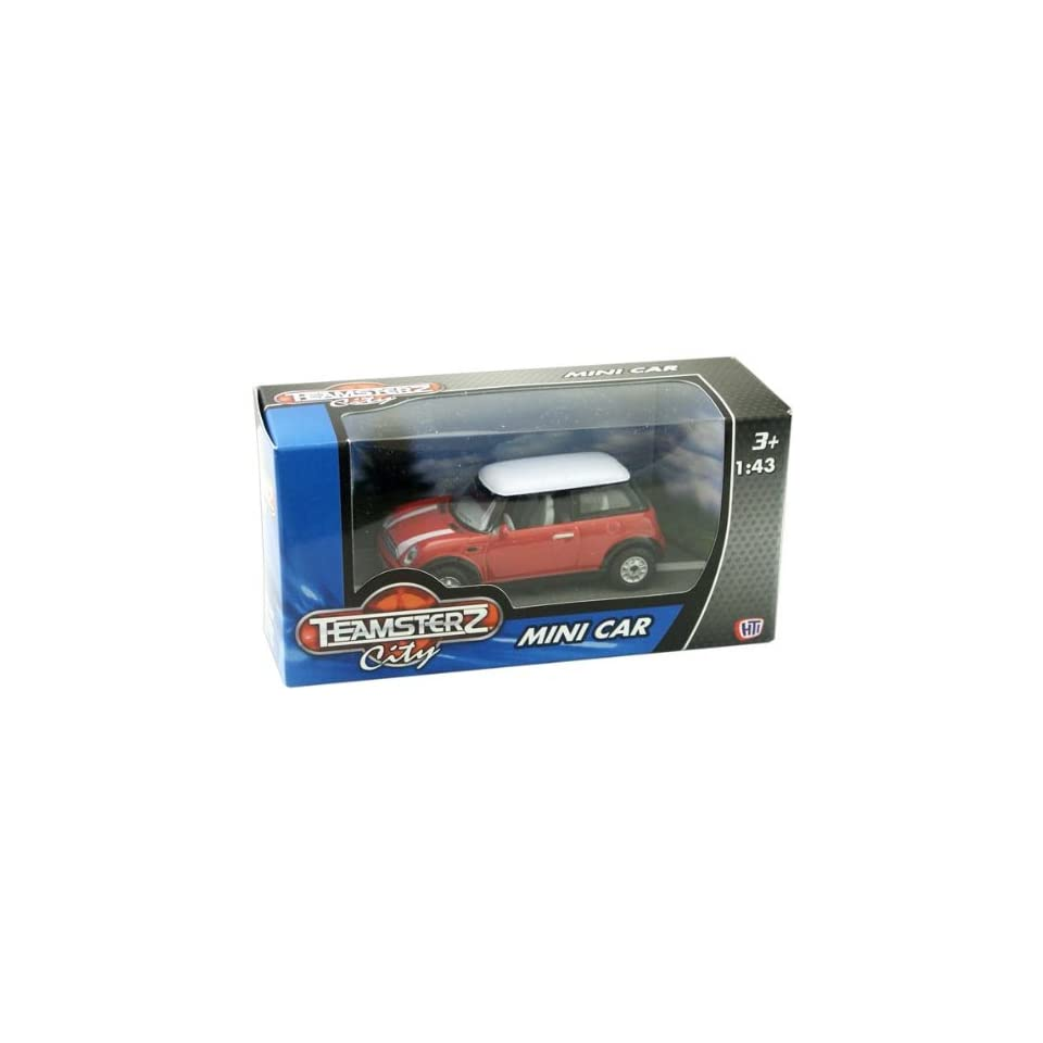 Teamsterz City Mini Cooper Coupe Car Die Cast Vehicle   Red
