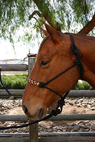 Kensington KPP Rope Halter Set, Deluxe Black Plaid, Horse