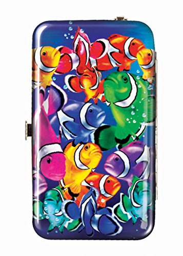 Spoontiques Wallet Case for iPhone 4; iPhone 5; iPhone 5S, iPhone 6; Samsung Galaxy S5 - Tropical Fish Phone Wristlet (Fish Phone Case Iphone 4)