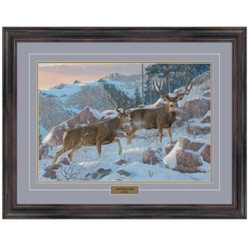 (Reflective Art, Rocky Mountain High, Dark Walnut Framed, 26 by 34-inch)