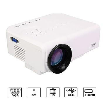 Flylinktech – HD M3 Mini proyector de vídeo portátil Proyector de vídeo conectar DVD/VCD