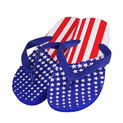 GreaterGood American Flag Flip Flops rtmk2aVwN