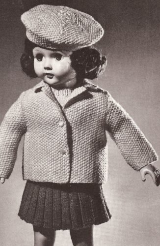 Amazon Vintage Knitting Pattern To Make 18 Doll Clothes