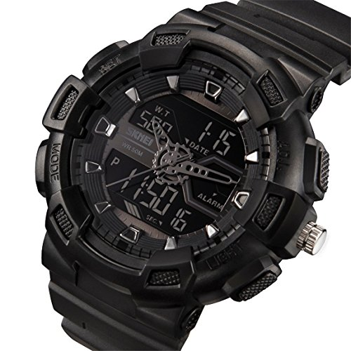Misskt Mens Military Sport Watch Fashion Men Watch LED Display Water Resistant (Mens El Analog Sport Watchs)