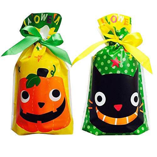 Halloween Treat Bags Gift Goody Bags 20 Pack Halloween Bags for Trick or Treat Assorted Halloween Theme Trick Party Favor Bags for Kids Boys and Girls Gift Wrap Bags (20pcs)