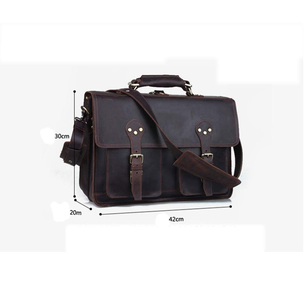 ZhiGe Briefcase,Leather Fashion Shoulder Bag Travel Three-in-one Male Briefcase