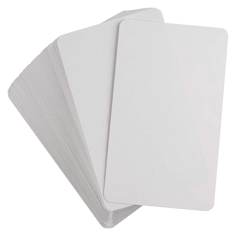 Flash Cards- 3.54X2.13in Jeu De M/émoire Cartes De Jeu DIY Heoolstranger 200pcs Cartes /À Jouer Vierges Brillantes