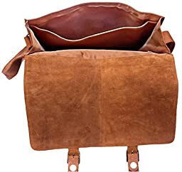 Feather Feel Large Leather Satchel Briefcase, 18\