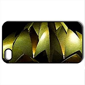 Baha'i Lotus Temple - Case Cover for iPhone 4 and 4s (Monuments Series, Watercolor style, Black)