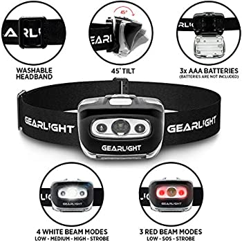 Gearlight Led Headlamp Flashlight S500 2 Pack Running Camping And Outdoor Headlight Headlamps Head Lamp With Red Safety Light For Adults And Kids