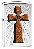 Zippo Pocket Lighter High Polished Chrome Double Cross Lighter