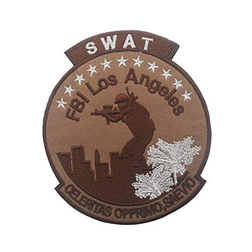 National Police SWAT Special Forces Patch Tactical Gear Military Embroidered Morale Sew on Emblem Applique for Coat Jacket Gear Cap Hat Backpack (SWAT)