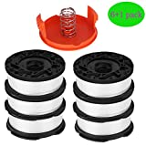 "AF-100 Spool Compatible for Black and Decker AF-100-3ZP GH900 GH600 String Trimmer, 0.065"" String Trimmer Line Replacement (6 Spool + 1 Cap and Spring) by TOPEMAI"