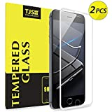 TJS (2 Pack) Apple iPhone 8 Plus/7 Plus/6 Plus/6s Plus 3D Full Coverage Tempered Glass, [PET Frame][Edge to Edge Crash Protection] Curved [Bubble Free] Screen Protector - White