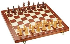 Philos 2611 - Ajedrez (casillas de 50 mm, altura del rey: 90 mm, tablero y funda para guardar las piezas, plegable)
