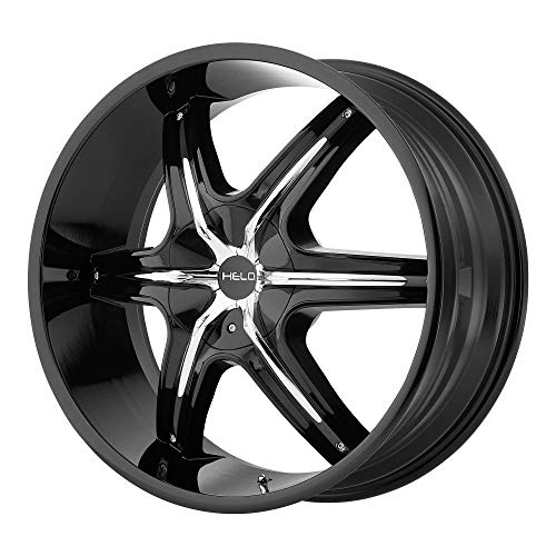 - HELO HE891 GLOSS BLACK W/GLOSS BLACK AND CHROME ACCENTS HE891 20x8.5 5x115.00/5x120.65 GLOSS BLACK W/GLOSS BLACK AND CHROME ACCENTS (10 mm) rims