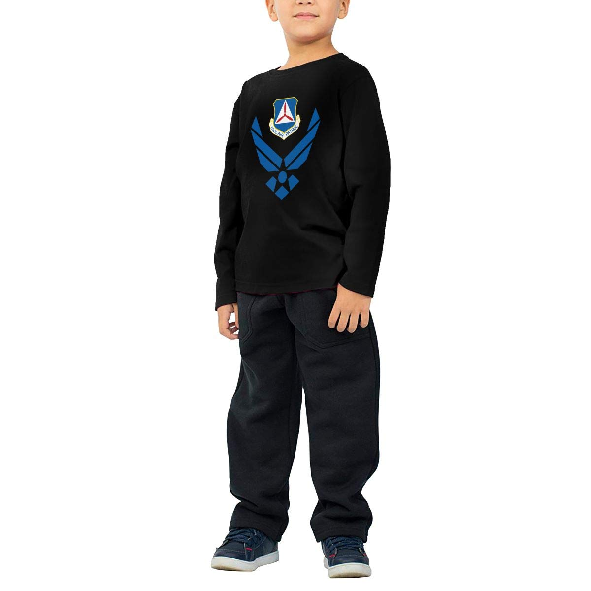 Civil Air Patrol Childrens Long Sleeve T-Shirt Boys Girls Cotton Tee Tops