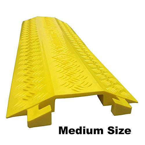 Drop Trak Cable & Hose Protector - Medium - Yellow by Electriduct