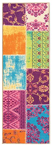 Custom Multicolor Patchwork Non Slip Hallway
