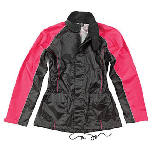 Joe Rocket Women's RS-2 Rain Suit (SMALL) (BLACK/PINK) by Joe Rocket