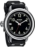 Men's Nixon The October Watch in Black Swiss Quartz Movement Stainless Steel Rubber Strap A488000
