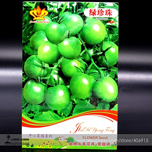 - Heirloom 'Da Tong' Green Pearl Cherry Tomato Organic ''Seed, Original Pack, 30 ''Seed/Pack, Tasty Juicy Fruit