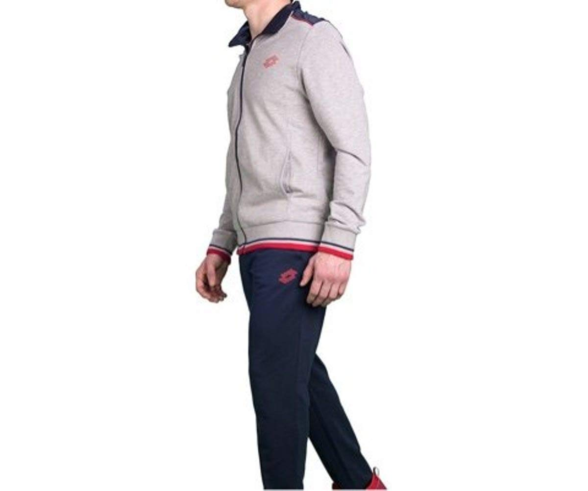 Lotto Mason VI Suit Herren Trainingsanzug, ft, grau (Gry DKM NVY)