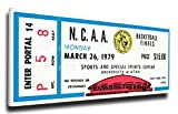 NCAA Michigan State Spartans 1979 Basketball Finals Mega Ticket