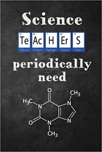 Science Teachers Periodically Need Caffeine Molecule Funny