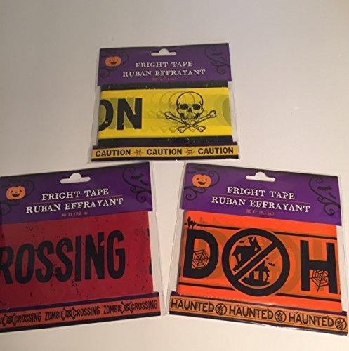 Halloween Caution Tape Decoration 3 Pack